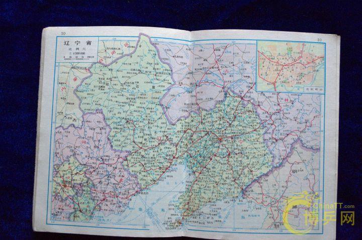 上世纪80年代中国地图