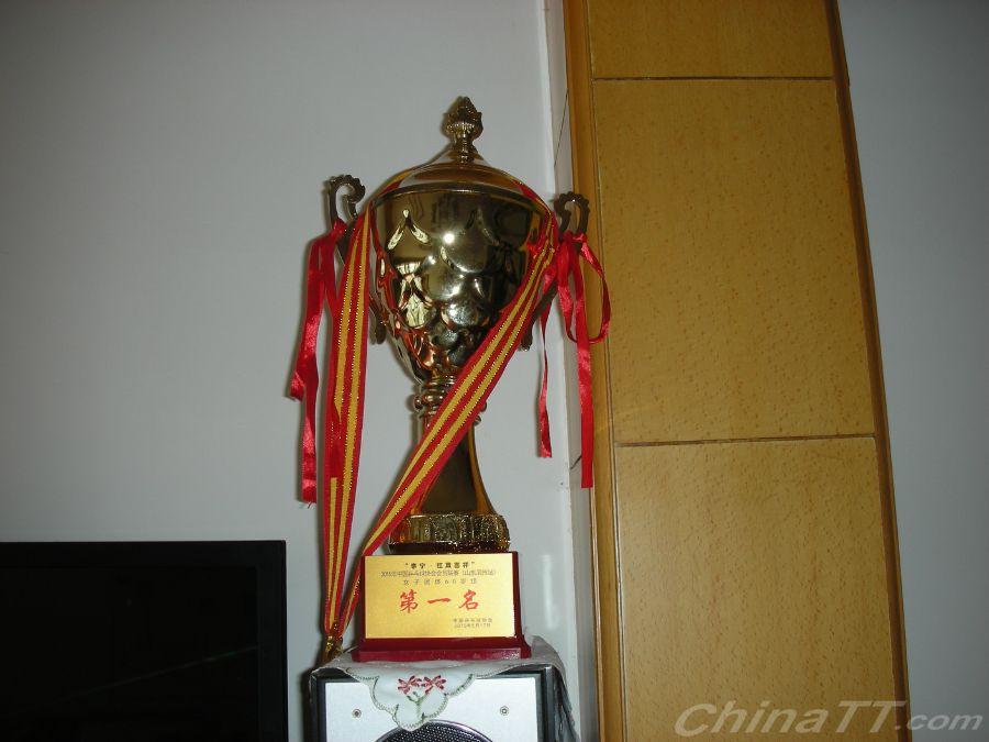 我参加了2015年中国乒乓球协会会员联赛滨州站并取得了60岁组团体冠军